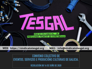 Infografía Convenio Colectivo de Eventos, Servizos e Producións Culturais de Galicia